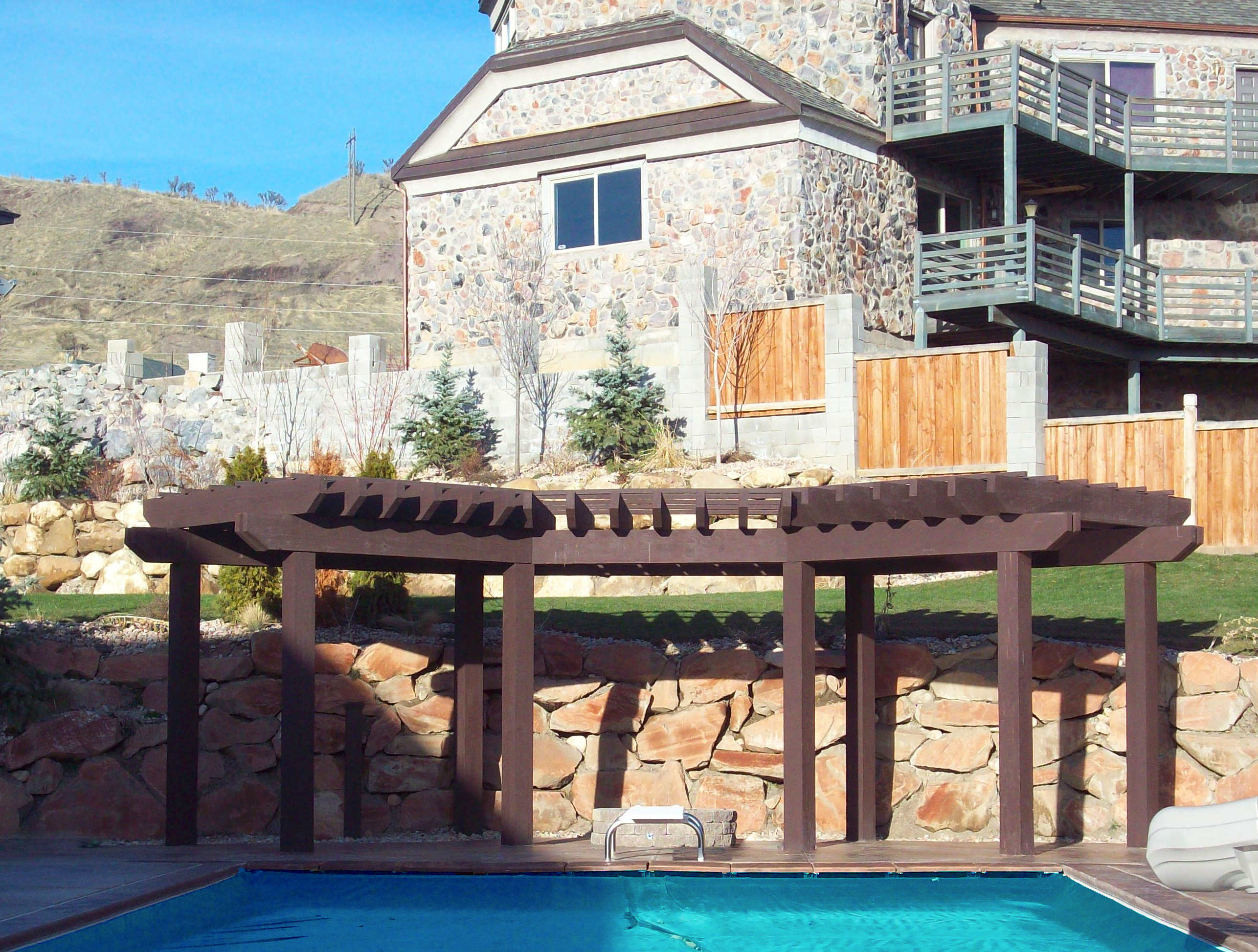 Stunning With Curved Pergola