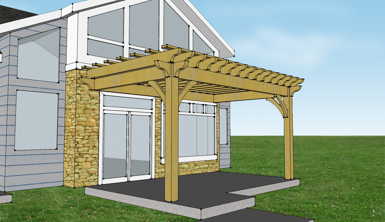 28 Attached Pergola Kit Americana Buil Plans To