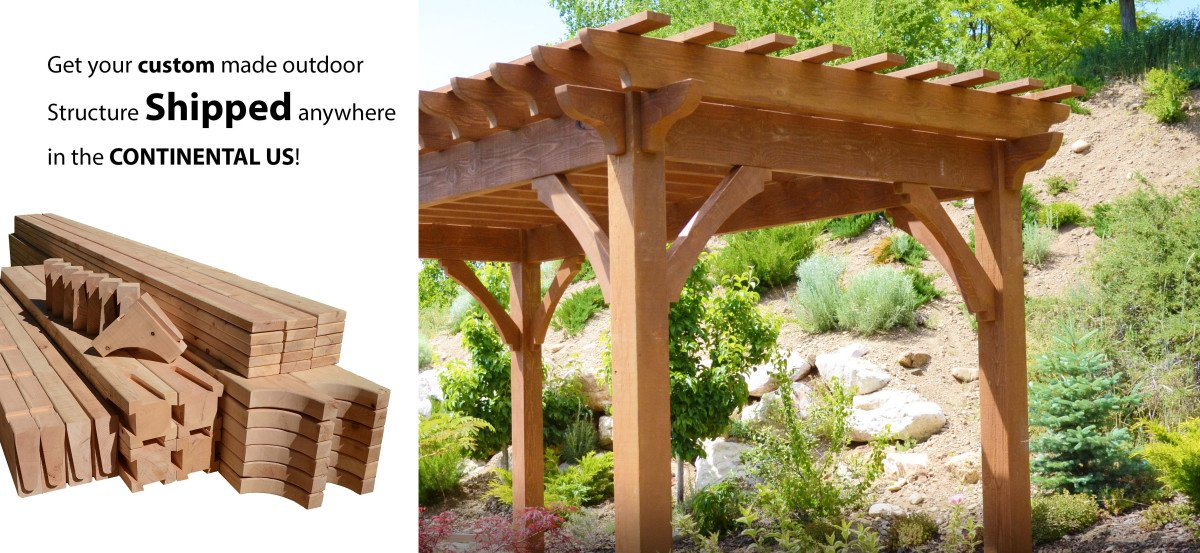 Custom Pergola Kits (shipping)