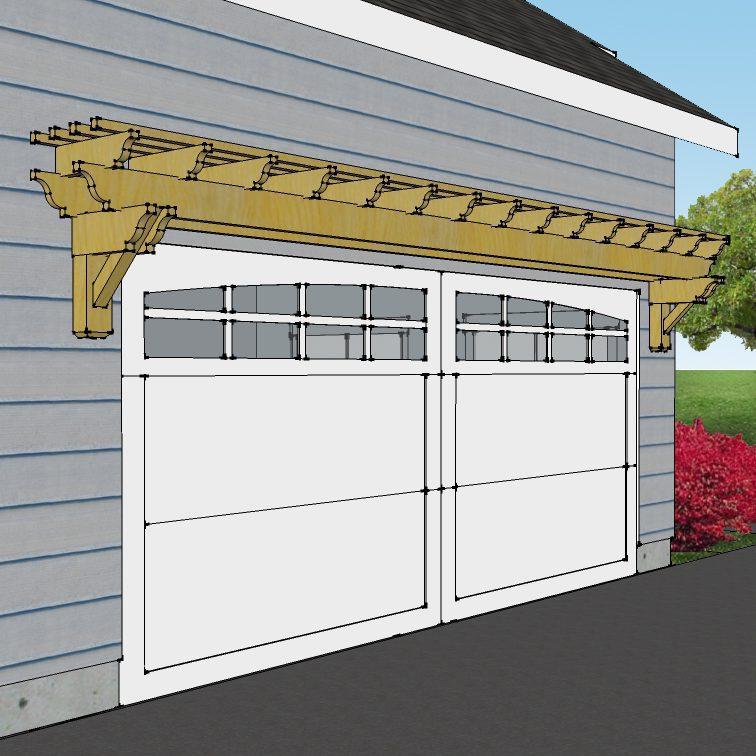 Garage door pergolas trend for Garage pergola kits